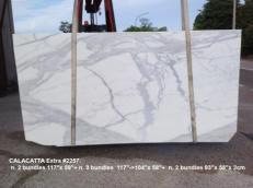 Suministro planchas mates 0.8 cm en mármol natural CALACATTA 2257. Detalle imagen fotografías