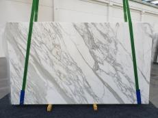 Suministro planchas pulidas 0.8 cm en mármol natural CALACATTA 1228. Detalle imagen fotografías