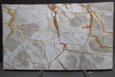 Suministro planchas pulidas 0.8 cm en cuarcita natural CRISTALLO IMPERIALE DG027. Detalle imagen fotografías