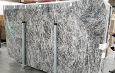 Suministro planchas pulidas 0.8 cm en mármol natural DIAMOND GREY 1491M. Detalle imagen fotografías