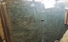 Suministro planchas pulidas 0.8 cm en cuarcita natural EMERALD GREEN Z0209. Detalle imagen fotografías