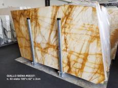 Suministro planchas pulidas 2 cm en mármol natural GIALLO SIENA S0237. Detalle imagen fotografías