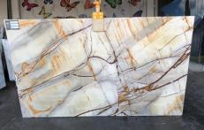 Suministro planchas pulidas 0.8 cm en cuarcita natural ISOLA BLUE AA U0112. Detalle imagen fotografías