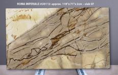Suministro planchas pulidas 0.8 cm en cuarcita natural ISOLA BLUE U0112. Detalle imagen fotografías