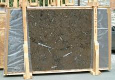 Suministro planchas pulidas 0.8 cm en mármol natural MARRON FOSSIL E-13771. Detalle imagen fotografías