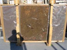 Suministro planchas pulidas 2 cm en mármol natural MARRON FOSSIL edi222mfxx. Detalle imagen fotografías