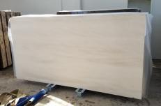 Suministro planchas pulidas 0.8 cm en caliza natural MOCA CREME FINE GRAIN AA D2912. Detalle imagen fotografías