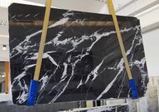 Suministro planchas pulidas 2 cm en mármol natural MONACO BLACK AA T0101. Detalle imagen fotografías