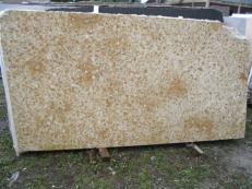Suministro planchas pulidas 2 cm en mármol natural NILE YELLOW EDM25117. Detalle imagen fotografías