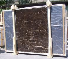 Suministro planchas pulidas 0.8 cm en mármol natural NOIR SAINT LAURENT E-NSL14745. Detalle imagen fotografías