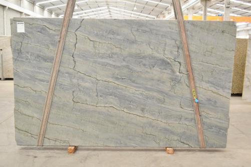 Suministro planchas pulidas 1.18 cm en cuarcita natural OCEAN BLUE 2382. Detalle imagen fotografías
