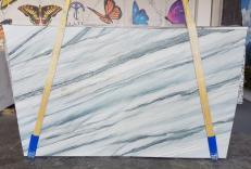 Suministro planchas pulidas 0.8 cm en cuarcita natural ONDA BLUE AA T0100. Detalle imagen fotografías