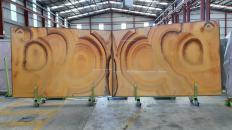 Suministro planchas pulidas 2 cm en ónix natural ONICE ARCOIRIS Raimbow. Detalle imagen fotografías