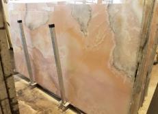 Suministro planchas pulidas 2 cm en ónix natural ONICE ROSA AA S0242. Detalle imagen fotografías