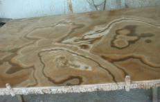 Suministro planchas pulidas 0.8 cm en ónix natural ONYX CAPPUCCINO EM_0411. Detalle imagen fotografías