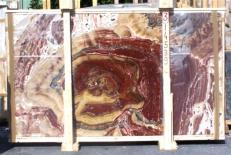 Suministro planchas pulidas 2 cm en ónix natural ONYX MULTICOLOR E-14539. Detalle imagen fotografías