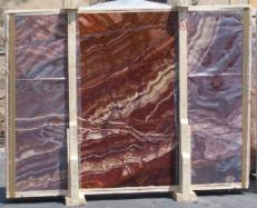 Suministro planchas pulidas 0.8 cm en ónix natural ONYX RED EXTRA E-14637. Detalle imagen fotografías
