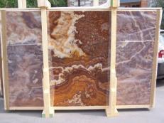 Suministro planchas pulidas 2 cm en ónix natural ONYX RED E-14639. Detalle imagen fotografías