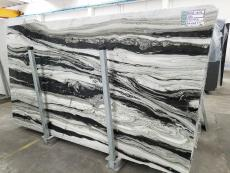 Suministro planchas pulidas 2 cm en mármol natural PANDA GREY D-7130. Detalle imagen fotografías