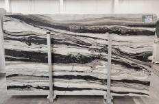 Suministro planchas pulidas 1.2 cm en mármol natural PANDA GREY D-7130. Detalle imagen fotografías