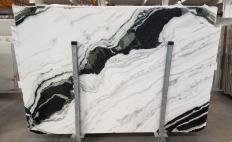 Suministro planchas pulidas 2 cm en mármol natural PANDA 1517M. Detalle imagen fotografías