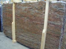 Suministro planchas pulidas 0.8 cm en granito natural ROSEWOOD CV1-RW25. Detalle imagen fotografías