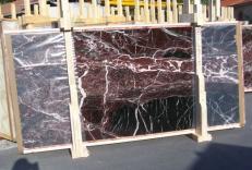 Suministro planchas pulidas 0.8 cm en mármol natural ROSSO LEVANTO E-14915. Detalle imagen fotografías
