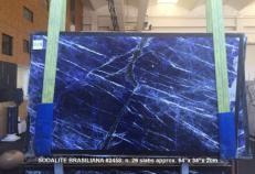 Suministro planchas pulidas 2 cm en mármol natural SODALITE AA 2458. Detalle imagen fotografías