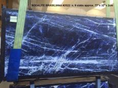 Suministro planchas pulidas 0.8 cm en mármol natural SODALITE AA 2522. Detalle imagen fotografías
