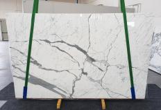Suministro planchas pulidas 2 cm en mármol natural STATUARIO EXTRA 1249. Detalle imagen fotografías