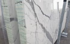 Suministro planchas pulidas 2 cm en mármol natural STATUARIO VENATO 1258. Detalle imagen fotografías
