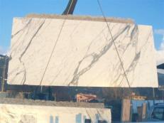 Suministro planchas pulidas 0.8 cm en mármol natural STATUARIO VENATO E_1442. Detalle imagen fotografías