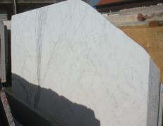 Suministro planchas pulidas 0.8 cm en mármol natural STATUARIO VENATO EM_0246. Detalle imagen fotografías