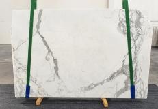 Suministro planchas pulidas 2 cm en mármol natural STATUARIO VENATO 1225. Detalle imagen fotografías
