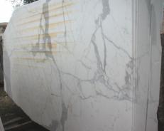 Suministro planchas pulidas 0.8 cm en mármol natural STATUARIO E-O411. Detalle imagen fotografías