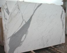 Suministro planchas pulidas 0.8 cm en mármol natural STATUARIO E-O482. Detalle imagen fotografías