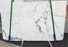 Suministro planchas pulidas 2 cm en mármol natural STATUARIO GL 979. Detalle imagen fotografías