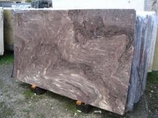 Suministro planchas pulidas 2 cm en mármol natural THALIA BROWN EDM25134. Detalle imagen fotografías