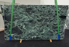 Suministro planchas pulidas 2 cm en mármol natural VERDE ALPI 1460. Detalle imagen fotografías