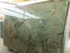 Suministro planchas pulidas 2 cm en cuarcita natural VERDE JADOR A0114. Detalle imagen fotografías