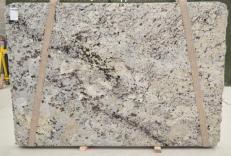 Suministro planchas pulidas 2 cm en granito natural WHITE WAVE BQ01435. Detalle imagen fotografías
