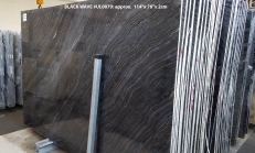 Suministro planchas pulidas 0.8 cm en mármol natural Zebra Black UL0079. Detalle imagen fotografías