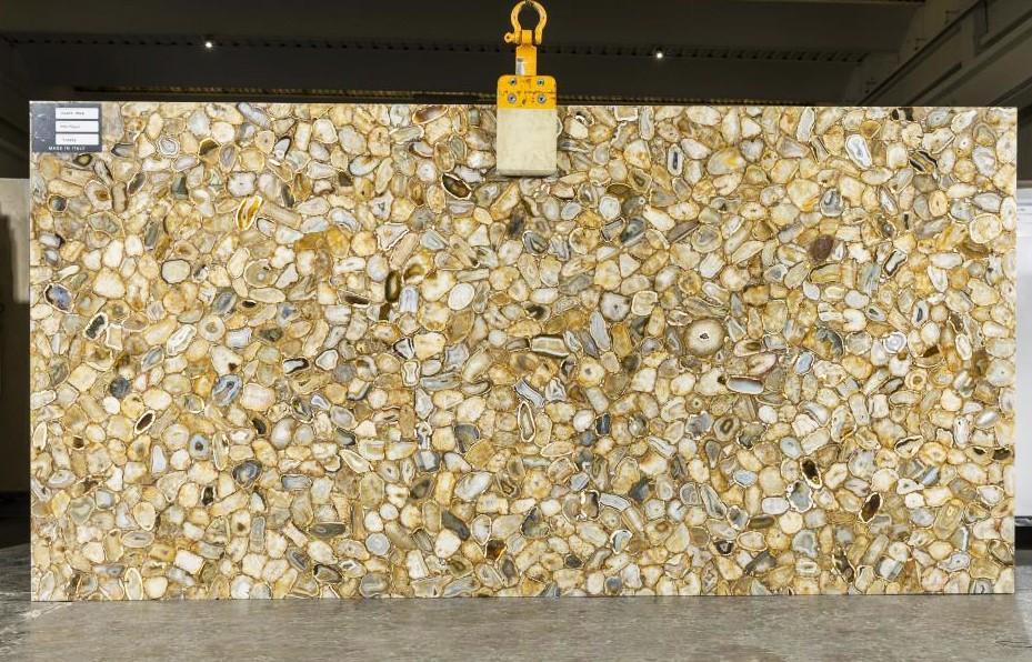 AGATE GOLD Suministro Veneto (Italia) de planchas pulidas en piedra semi preciosa natural TL0143 , SL2CM