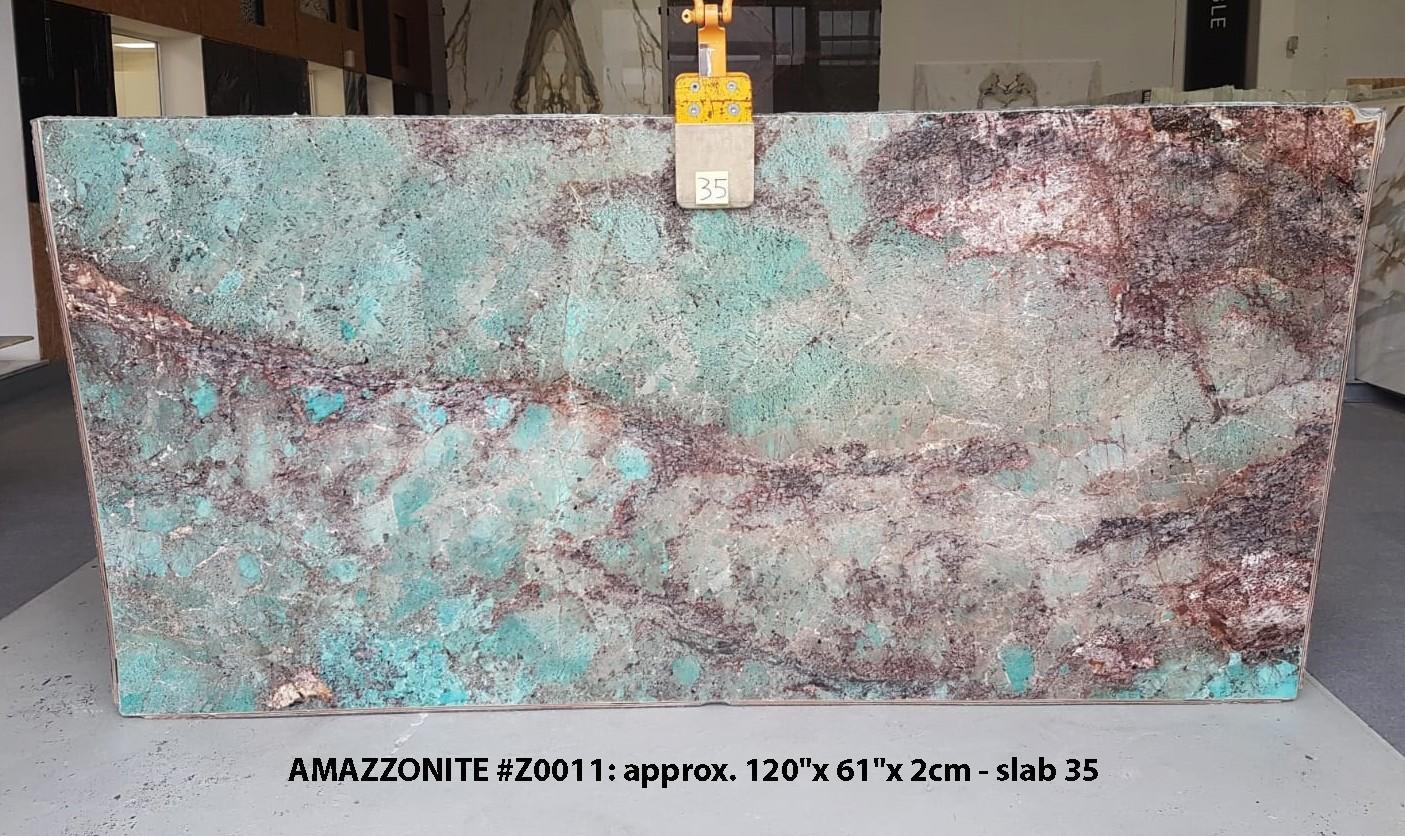 AMAZZONITE Suministro (Italia) de planchas pulidas en piedra semi preciosa natural Z0011 , Slab #35
