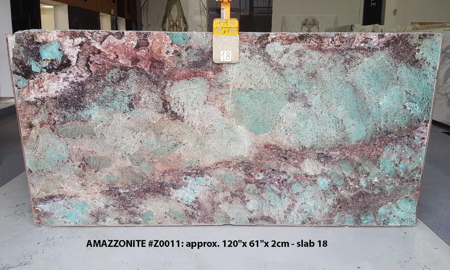 AMAZZONITE Suministro (Italia) de planchas pulidas en piedra semi preciosa natural Z0011 , Slab #18
