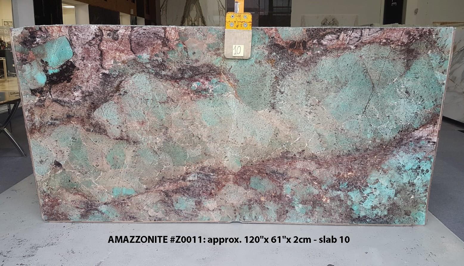 AMAZZONITE Suministro Veneto (Italia) de planchas pulidas en piedra semi preciosa natural Z0011 , Slab #10