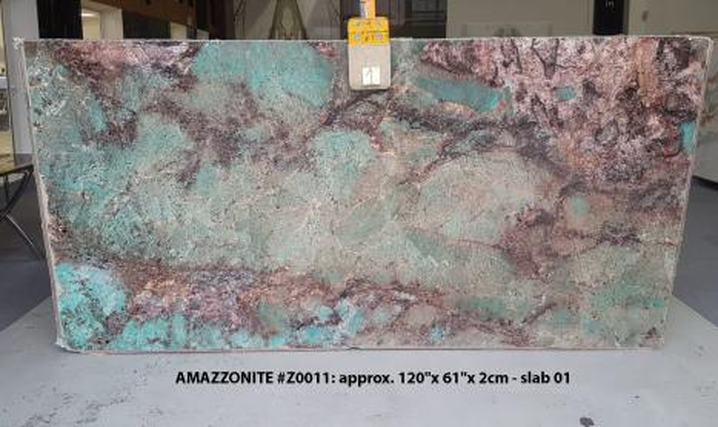 AMAZZONITE Suministro (Italia) de planchas pulidas en piedra semi preciosa natural Z0011 , Slab #01