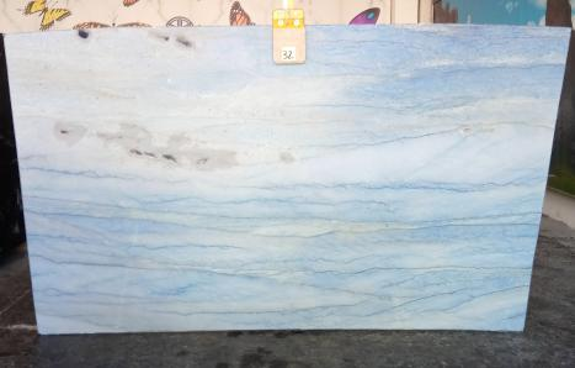 AZUL MAKAUBA Suministro Veneto (Italia) de planchas pulidas en mármol natural Z0191 , Slab #32