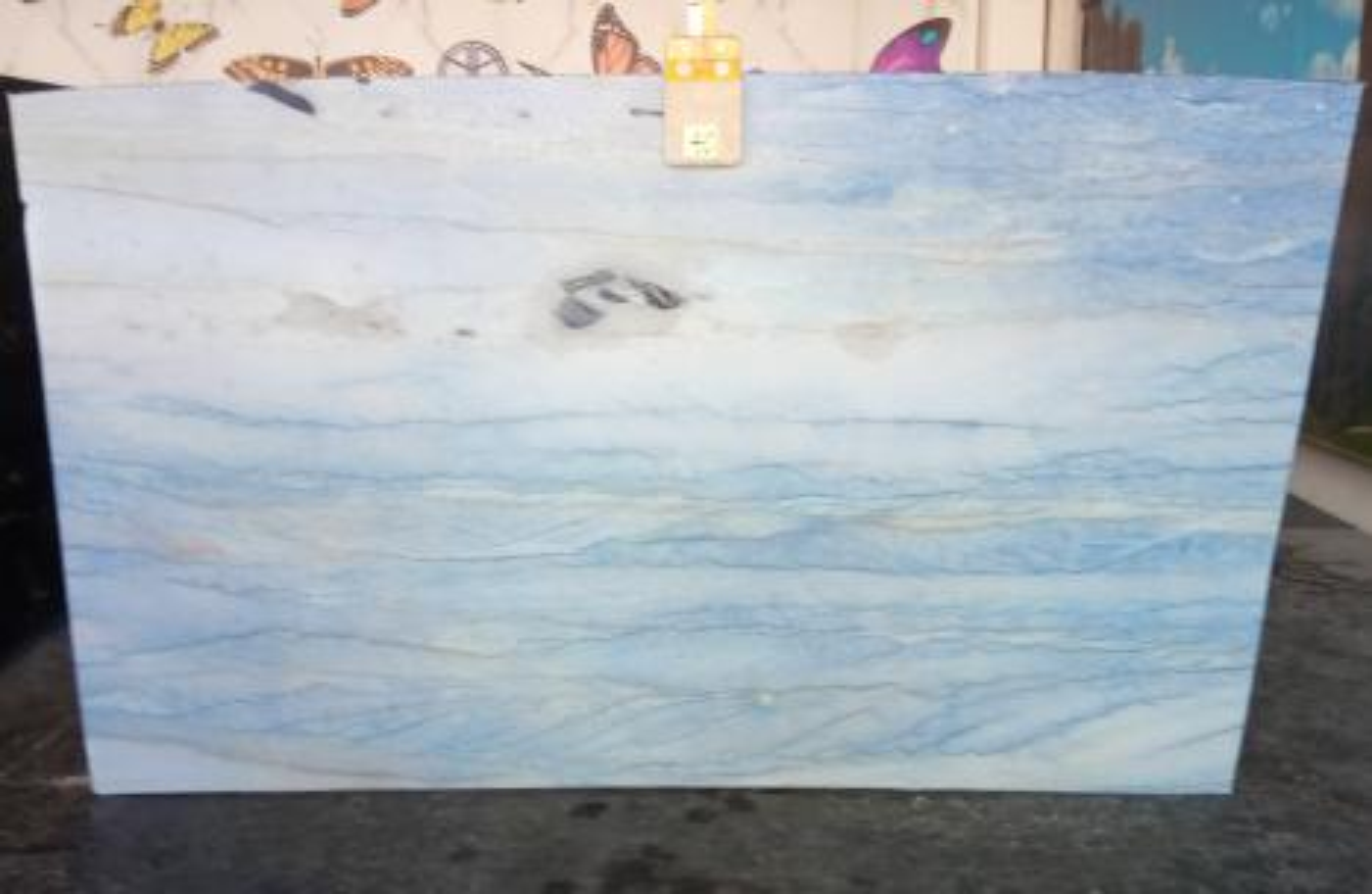 AZUL MAKAUBA Suministro Veneto (Italia) de planchas pulidas en mármol natural Z0191 , Slab #40