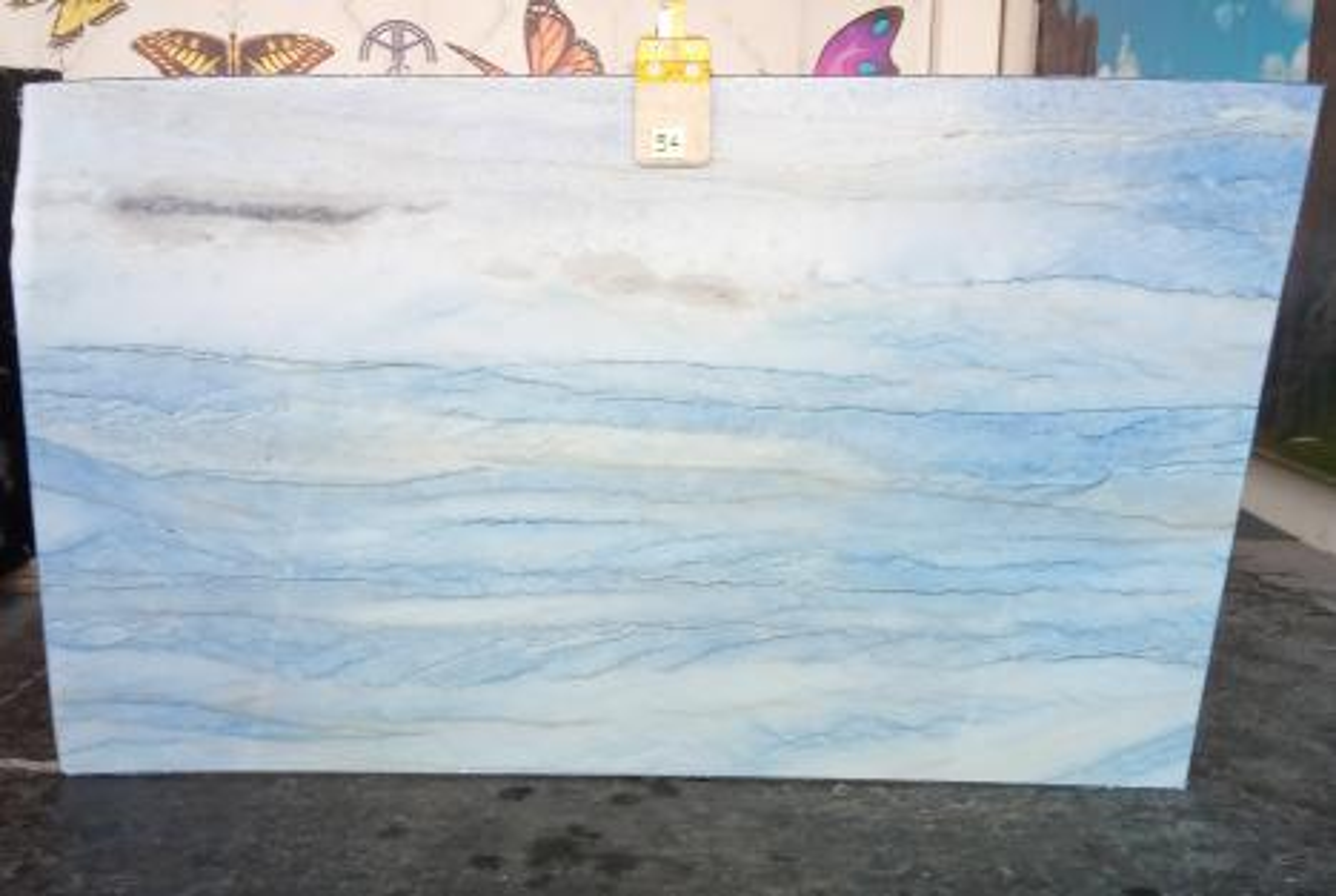 AZUL MAKAUBA Suministro Veneto (Italia) de planchas pulidas en mármol natural Z0191 , Slab #54